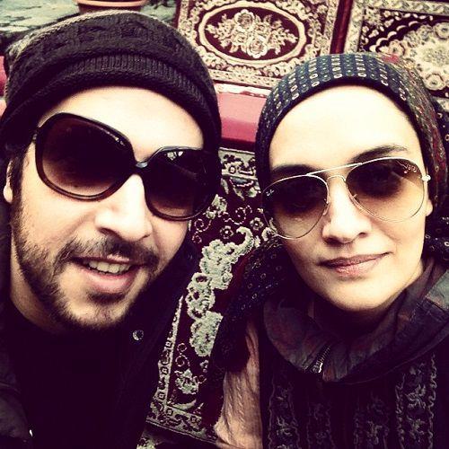 عکس میترا حجار و همسر خواننده اش، سینا حجازی
