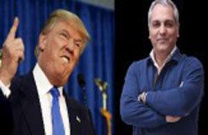 شباهت باورنکردنی و خنده دار مهران مدیری و ترامپ! + عکس
