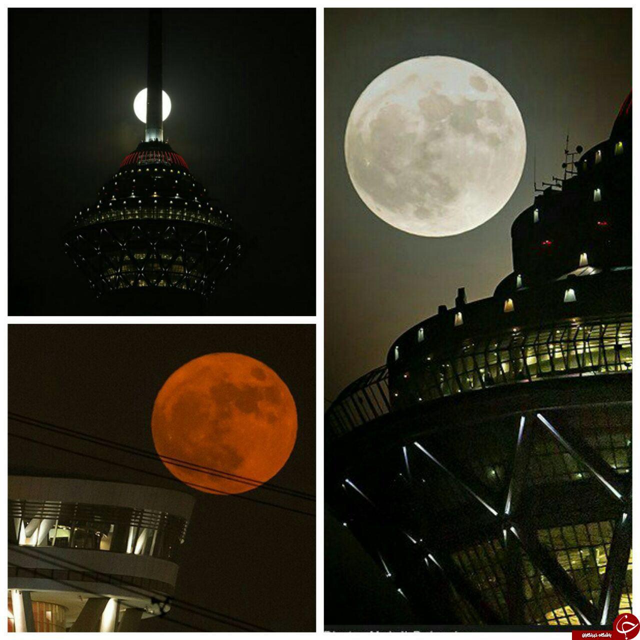 عکس های شگفت انگیز ابر ماه در کشورهای مختلف جهان