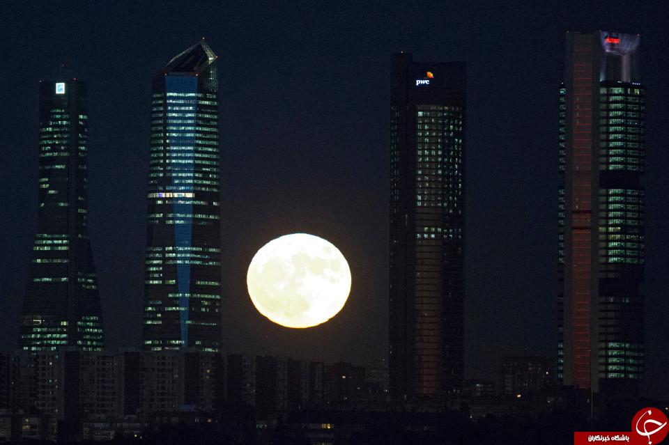 ابر ماه در مادرید، اسپانیا