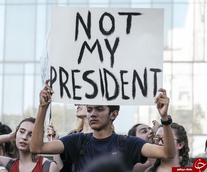تظاهرات مردم علیه ترامپ