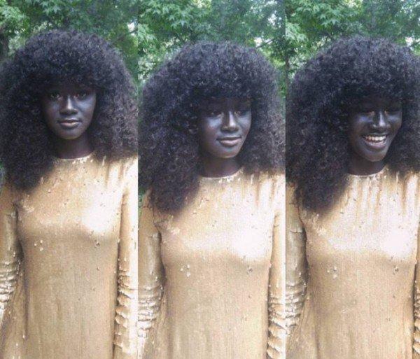 سیاهپوست ترین دختر جهان