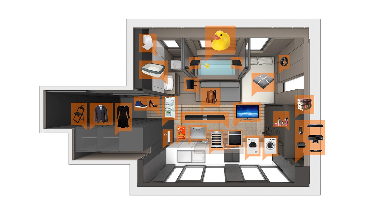 آپارتمان 30 متری هوشمند و دارای سینما، سالن بدنسازی