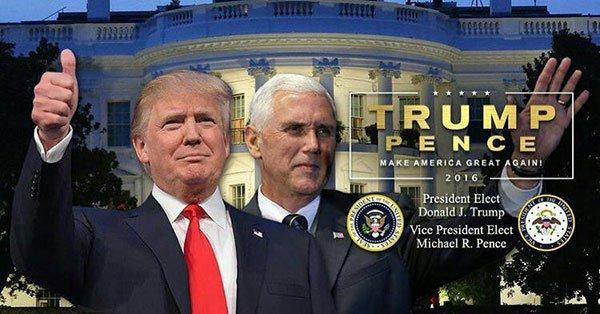 ترامپ با گذاشتن این عکس در توئیترش، به خودش تبریک گفت!