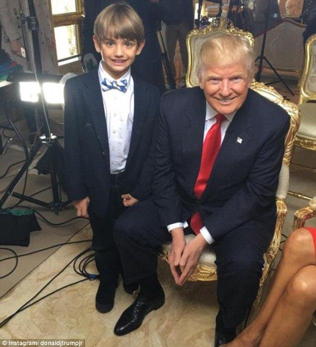 عکس های ترامپ و نوه اش در اولین مصاحبه او با رسانه ها