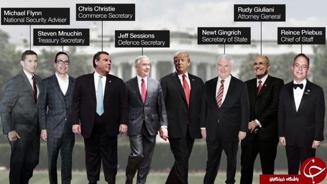 اعضای احتمالی کابینه دولت ترامپ + تصاویر
