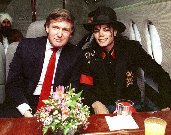 عکس های دیدنی ترامپ و مایکل جکسون