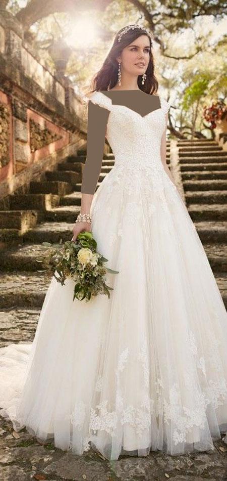 انواع مدل لباس عروس زیبا، لباس عروس 2017، لباس عروس آستین دار، ژورنال لباس عروس