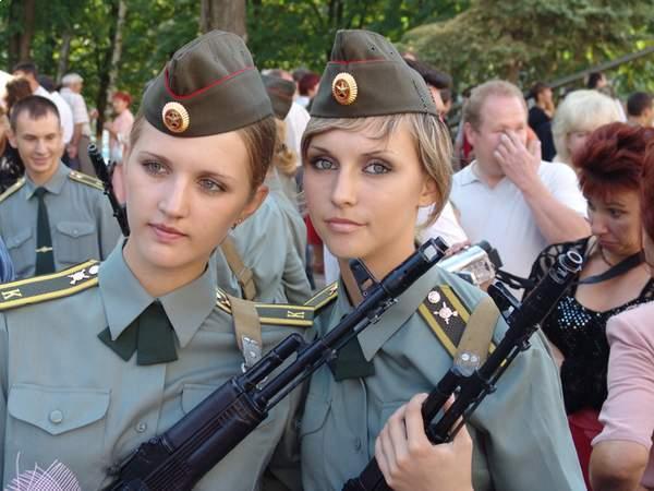 دختران و زنان زیبای ارتشی روسیه