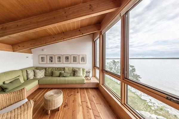 خانه ی ساحلی در ساحل ویکتوریا، کانادا