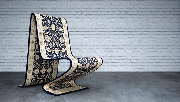 صندلی مدرن به شکل فرش شناور برای یک نشیمن مدرن