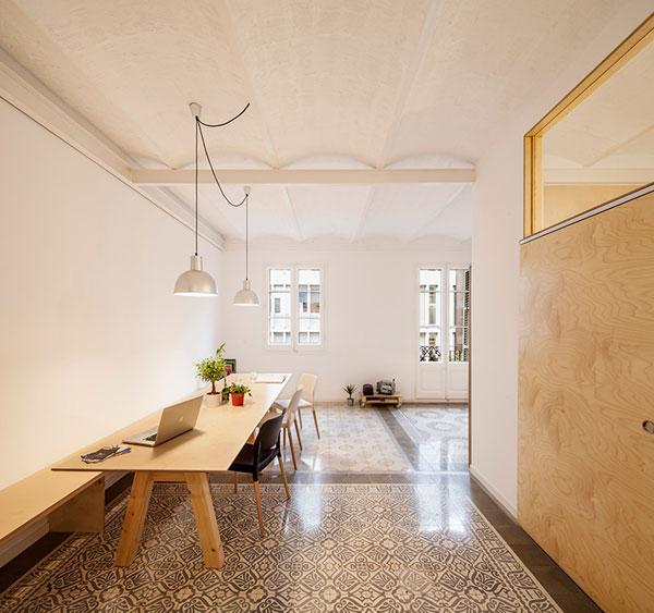 بازسازی آپارتمان متعلق به دهه ی 1930 میلادی در بارسلونا