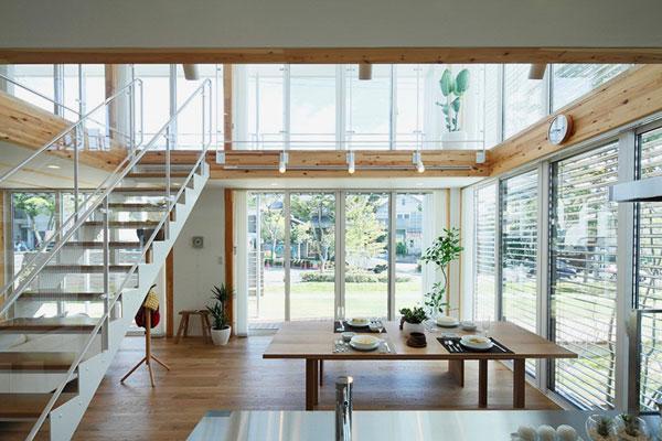 خانه های چوبی muji با تهویه و نور مناسب در ژاپن