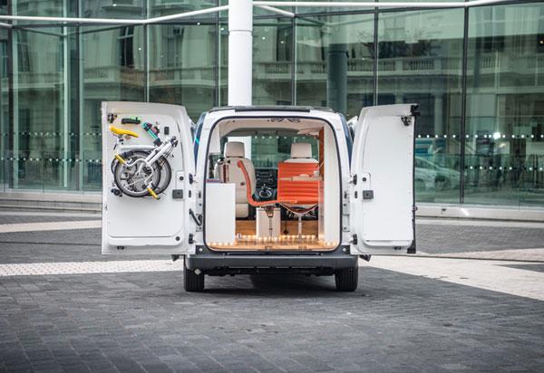 اولین ماشین تمام الکتریکی جهان مجهز به دفتر کار همراه