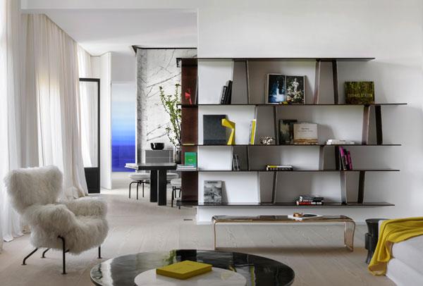 بازسازی آپارتمان و تبدیل آن به خانه مدرن با چشم اندازی از برج ایفل