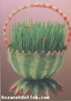 مدل هندوانه ای برای داشتن سبزه ای یلدایی