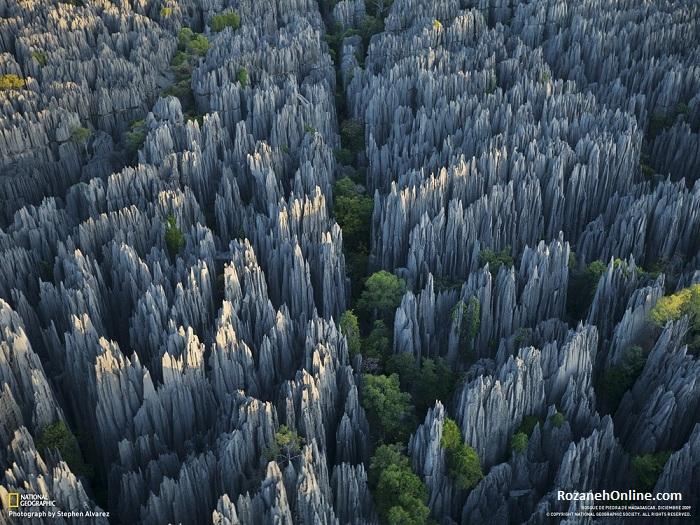 """مکان های عجیب و غریب دنیا - پارک طبیعی """"Lenskiy Pillars""""، یاکوتیا، روسیه"""