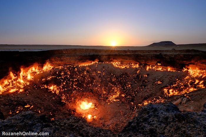 """""""دروازه جهنم"""" - دهانه گاز، ترکمنستان"""