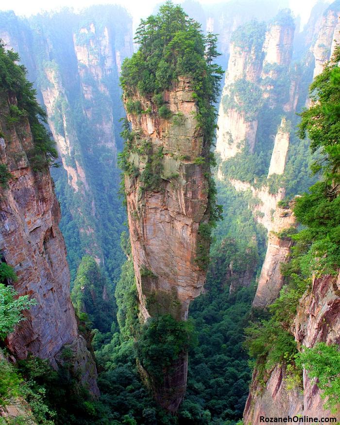 """کوه Tianjie (کوه """"آواتار"""") چین"""