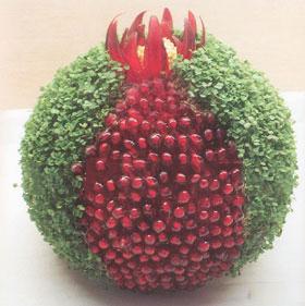 طریقه ی درست کردن یک مدل سبزه ی عید زیبا و جذاب ، به شکل انار