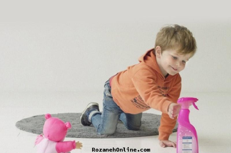 خطر مسمومیت مواد شوینده بر کودکان قبل از عید نوروز