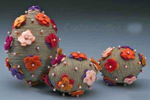 تزئین زیبای تخم مرغ های رنگی