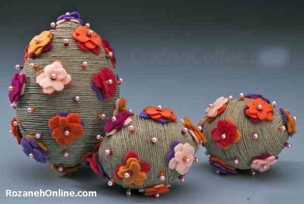 تخم مرغ رنگی و لذت تزئین آن برای شب عید