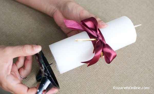 تزئین شمع زیبا برای عید نوروز
