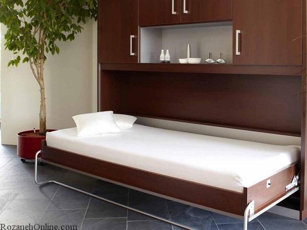 عکس از انواع مدل های تخت خواب تاشو در طرح های مختلف و جدید