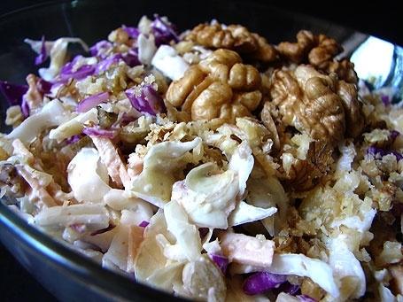 آموزش پخت ماکارونی با مرغ و کلم بنفش
