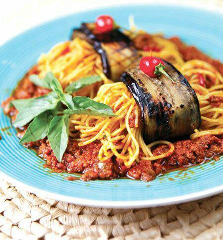 نحوه دستور پخت اسپاگتی بادمجان