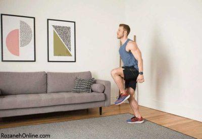 تقویت عضلات بدن با انجام حرکت Hops to Push-Up