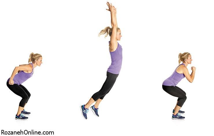 آموزش حرکت پرش بلند یا Long Jump With Jog Back