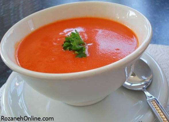 آموزش درست کردن آش گوجه فرنگی و برنج ساده