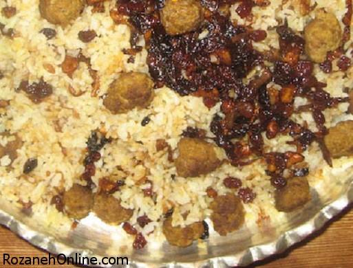 طرز تهیه قنبر پلو یک غذای کاملا سنتی و قدیمی شیرازی