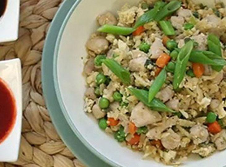 پخت خوراک گل کلم با تخم مرغ یک شام کم کالری