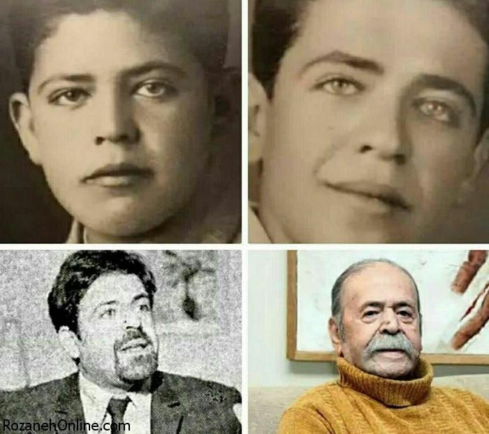 عکس های محمد علی کشاورز از نوجوانی، جوانی تا پیری