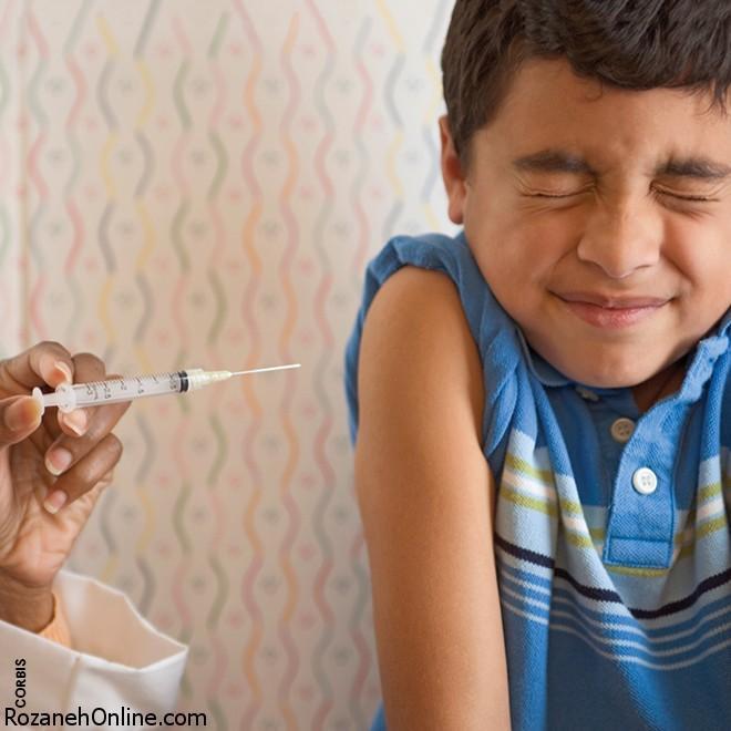 آشفتگی کودکان با واکسن زدن