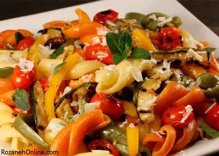 دستور پخت پاستای سبزیجات و استفاده از کلم بروکلی