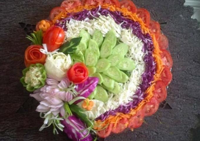 سالاد فصل کاهو و کلم را چند رنگ درست کنید!