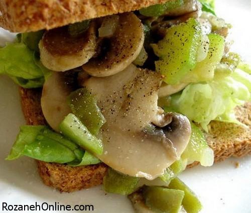 طرز تهیه ساندویچ قارچ و سیر و راه از بین بردن بوی سیر