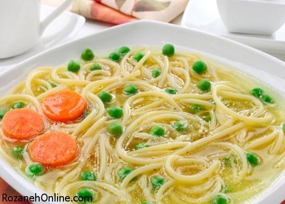 پخت سوپ نودل چینی با جوانه ماش