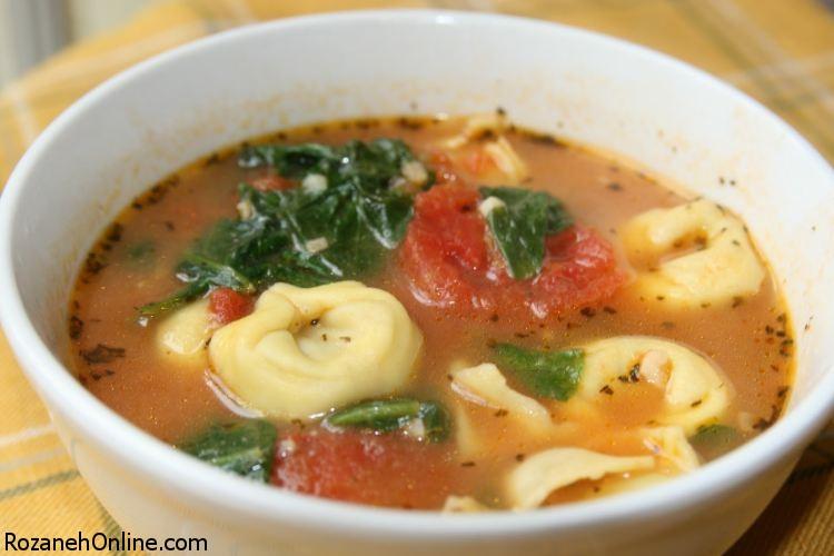 آموزش پخت سوپ تورتلینی سوپی تابستانی