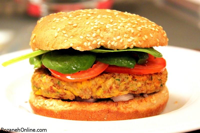 طرز تهیه برگر گیاهی سالم ویژه گیاهخواران