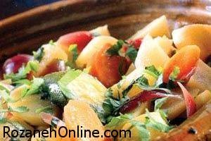 کاسرول کدو و گوجه فرنگی را اینگونه تهیه کنید!