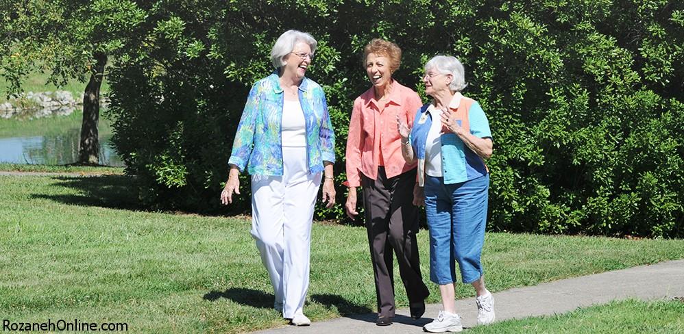 پیاده روی راه حلی برای سلامت سالمندان