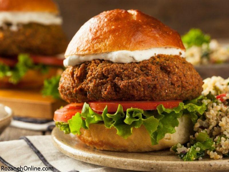 طرز تهیه برگر گیاهخواران با یک روش کاملا جدید و متفاوت