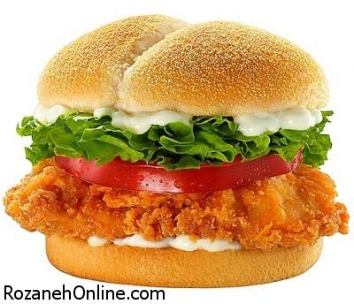 طرز تهیه برگر مرغ رژیمی ویژه پیشگیری از اضافه وزن