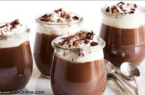طرز تهیه دسر شکلات شیر قهوه ویژه شب های پاییز