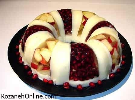 طرز تهیه ژله میوه ای کاملا خانگی و سنتی